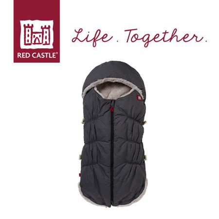 Śpiwór zimowy do wózka i fotelika z kapturem dla noworodków i niemowląt Babynest 0-6m Heather Grey, Red Castle