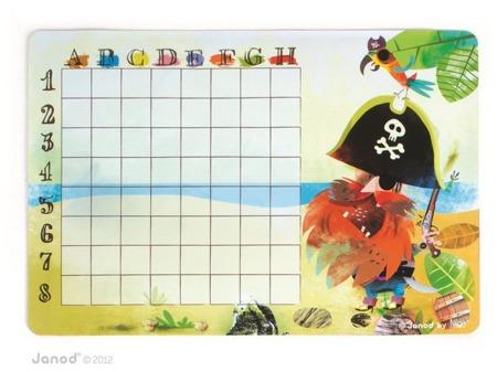 Statki (bitwa morska) gra magnetyczna Janod - duży zestaw, 28 elementów