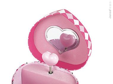 Szkatułka na biżuterię, spinki z pozytywką dla dzieci, dziewczynek - Kotek, Janod
