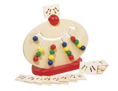 Tablica do sortowania kolorów - drewniana gra logiczna, przesuwanka GOKI, 58970