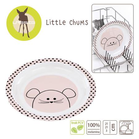 Talerz dla dzieci z melaminy Little Chums Mysz, Lassig