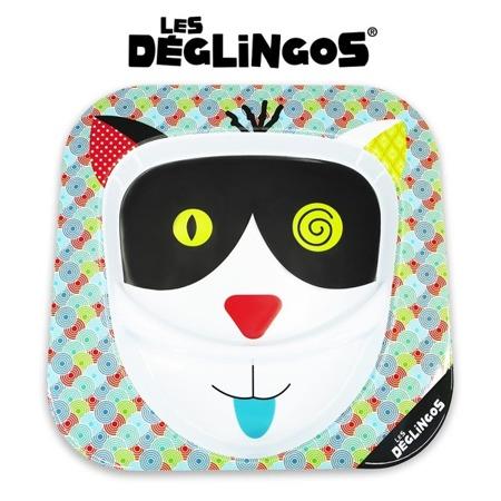 Talerz z melaminy Kot Charlos - talerz dwudzielny 22cm, Les Deglingos 55118