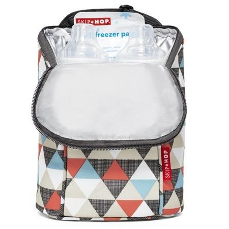 Termotorba na butelki do mleka, na butelki z piciem dla dziecka - pokrowiec Triangles, SKIP HOP