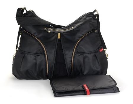Torba dla mamy do wózka TorbaVersa Black/Gold - pojemna torba dla mamy na akcesoria niemowlęce, SKIP HOP
