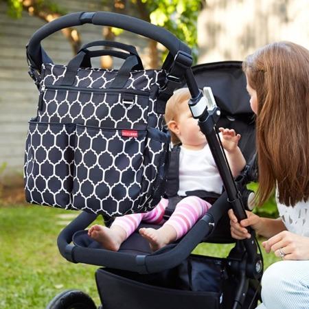 Torba do wózka Duo Signature Onyx - pojemna torba dla mamy na akcesoria niemowlęce, SKIP HOP