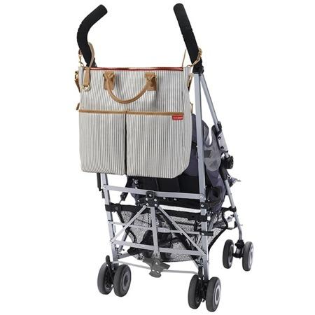 Torba do wózka Duo Special Edition French Stripe - pojemna torba dla mamy na akcesoria niemowlęce, SKIP HOP