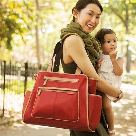 Torba do wózka Grand Central Cinnamon - pojemna torba dla mamy na akcesoria niemowlęce, SKIP HOP