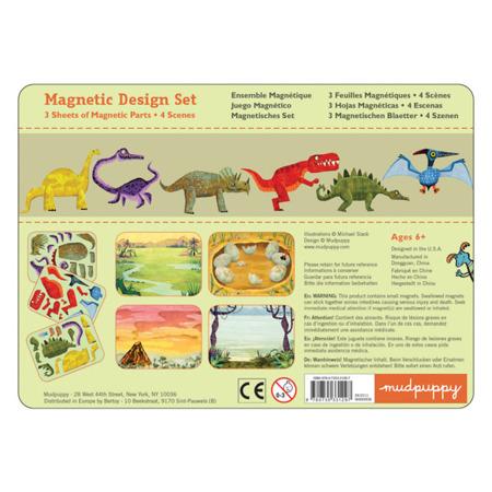 Układanka magnetyczna dinozaury - magnetyczne konstrukcje do układania 6 lat +, Mudpuppy  MP31297