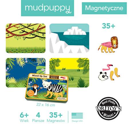 Układanka magnetyczna zwierzęta w ZOO - magnetyczne konstrukcje do układania 6 lat +, Mudpuppy MP34465