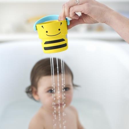 Wiaderka do wody 5 szt. - zabawka kąpielowa do przelewania Zoo, SKIP HOP