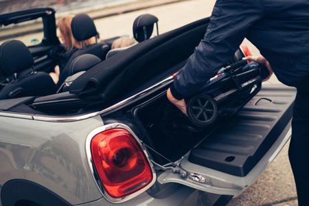 Wózek spacerowy lekki 6kg z osłonką przeciwdeszczową LXRY Black, MINI by Easywalker Buggy XS