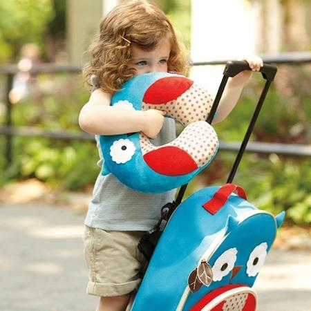 Zagłówek dziecięcy - rogal do samochodu dla dzieci, poduszka Sowa, SKIP HOP