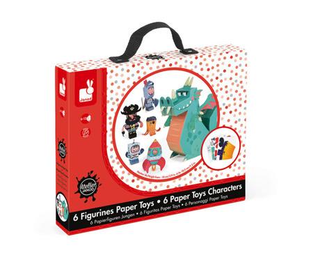 Zestaw artystyczny Papierowe postacie Chłopiec - zrób 6 trójwymiarowych figur! Janod