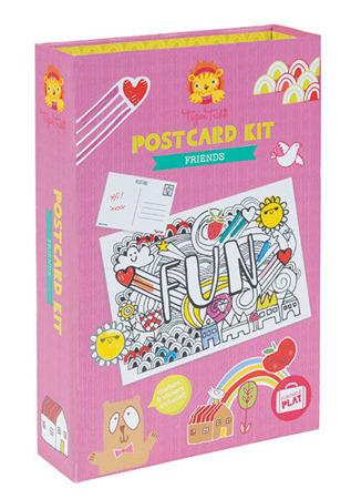 Zestaw kreatywny Pocztówki - własne kartki pocztowe, naklejki i akcesoria, Tiger Tribe TT-14002